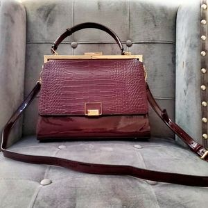 🎉Dune London Burgundy Snakeskin Crossbody Bag🎉